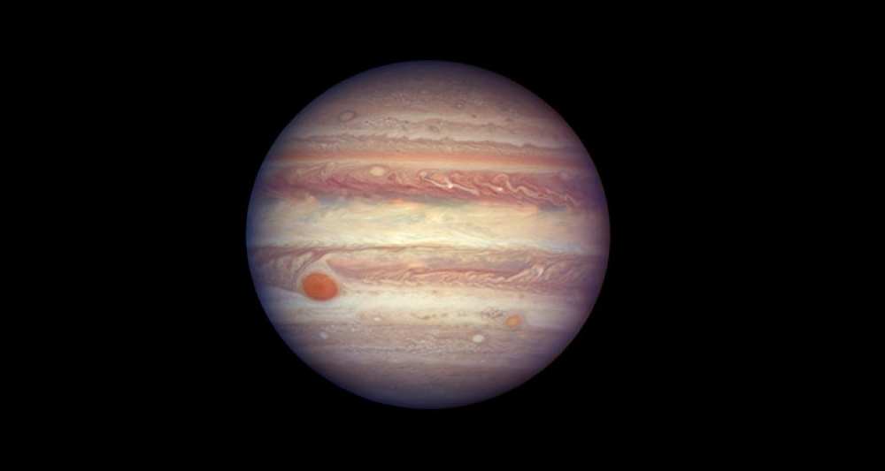 USA. This April 3, 2017 image made available by NASA shows the planet Jupiter. A team of astronomers is reporting the recent discovery of a dozen new moons circling the giant gas planet. That brings the number of moons at Jupiter to 79, the most of any planet. (AP)