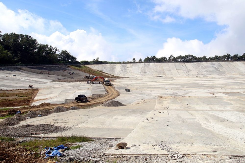BAGUIO. In this January 2018 photo, rehabilitation of the Sto. Tomas Rain Basin goes full swing hoping to be utilized by the city of its water needs. Just recently, the rain basin resumes operation. (SSB file photo)
