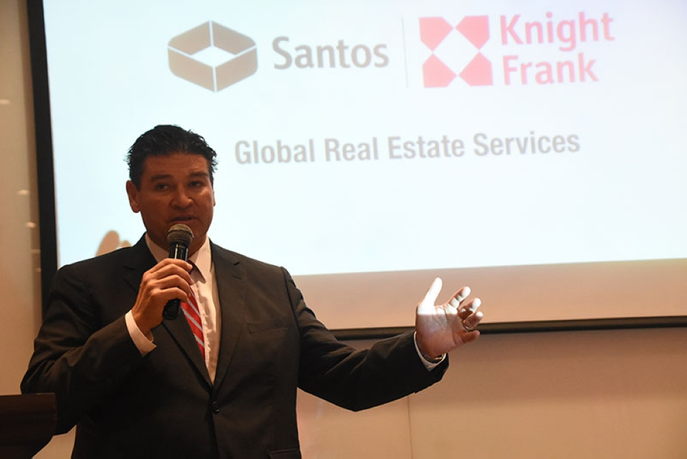 BPM-DRIVEN. Santos Knight Frank chairman Rick Santos gives a briefing on Cebu's real estate market. His firm projects 350,000 square meters of additional office space will be opened from 2018 to 2020. (SunStar Foto / Ruel Rosello)
