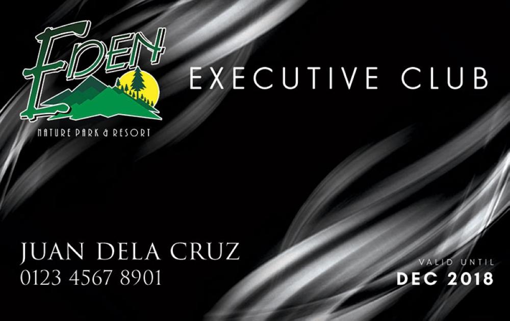 DAVAO. The Eden Executive Club Membership Card (Contributed Photo)