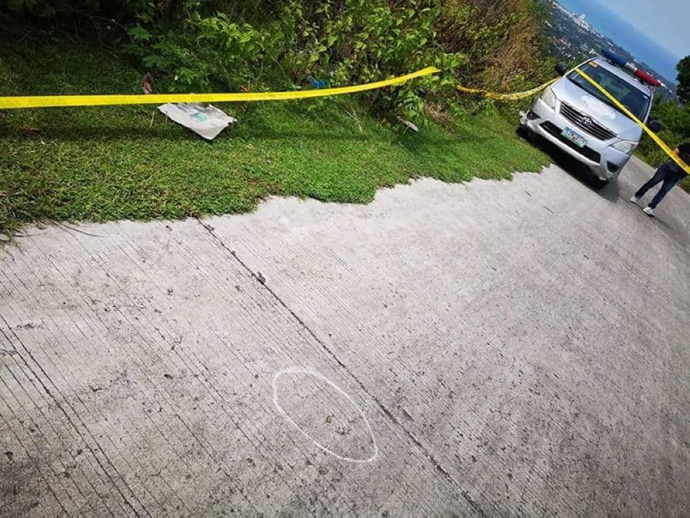The area where the Bureau of Jail Management van was ambushed earlier Friday, July 20. (Photo courtesy of Talisay City Police)