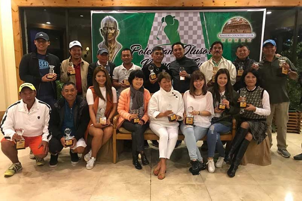 BAGUIO. SunStar Baguio publisher Peter Rey Bautista (second from right, standing) joins other winners of the P. Ilusorio Memorial Cup Open Golf Tournament at the Baguio Country Club. (Contributed photo)