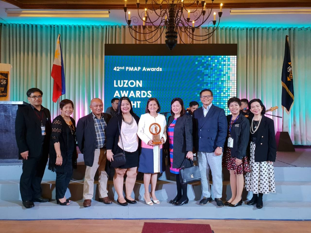 PAMPANGA. (From L-R) PMAP Baguio-Chapter President and Chairperson of the12th PMAP Luzon Summit Ric A. Bayao, AFPM President (PMAP Rizal Chapter) Teresita E. Dela Cruz, FPM-PMAP Awards Committee Member Efren B. Alberto, BOF Human Resources Department Head LeeAnn S. Delfin, BOF President Teresa David-Carlos, BOF Senior Executive Vice President Susan David-Nunga, PMAP Past President Edgardo R. Soriano, Senior Vice President for Administrative Group Cecile G. Escalante, and PMAP Board Secretary Louisa Mila V. Echevarria pose for a photo op during the 42nd PMAP Awards. (Contributed Photo)