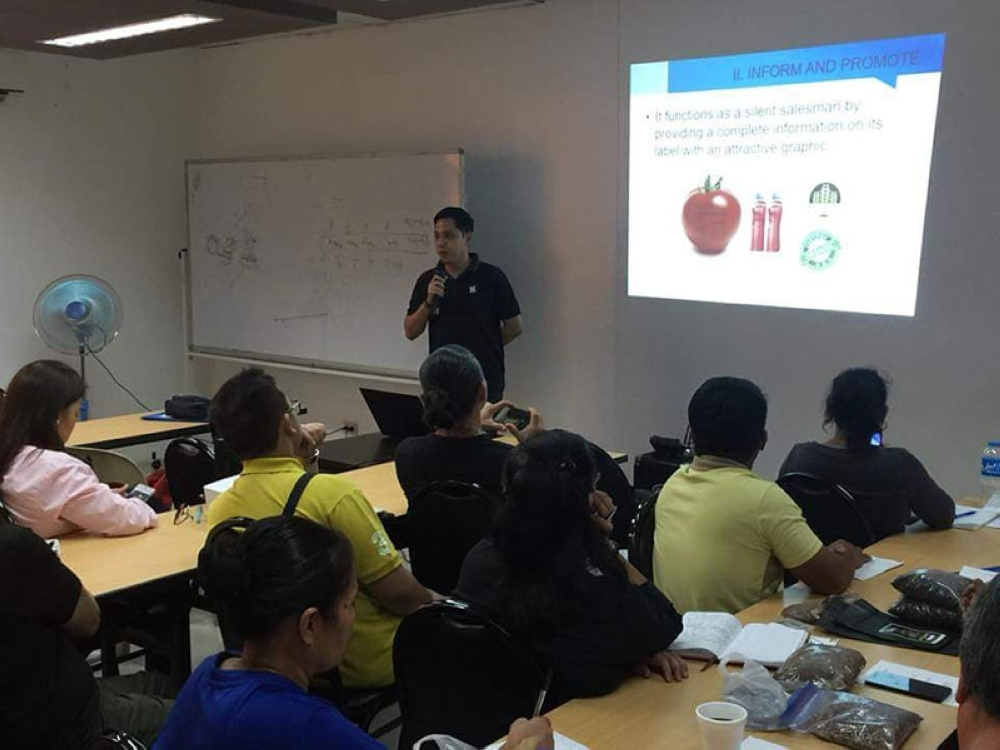 BACOLOD. DOST-Negros Occidental Science Research Analyst Fumio Moronaga discusses to the participants the various topics on packaging and labeling food products in a seminar held at the Negosyo Center in Bacolod City Friday, July 20. (Contributed Photo)