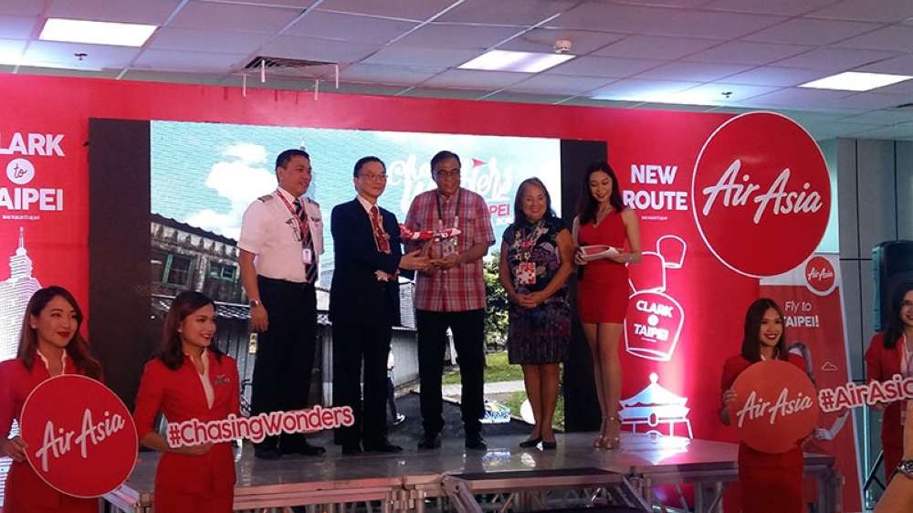 CLARK. AirAsia launched on July 12 its first flight from Clark International Airport to the Taoyuan International Airport of Taipei, Taiwan. (Maria Elena Catajan)