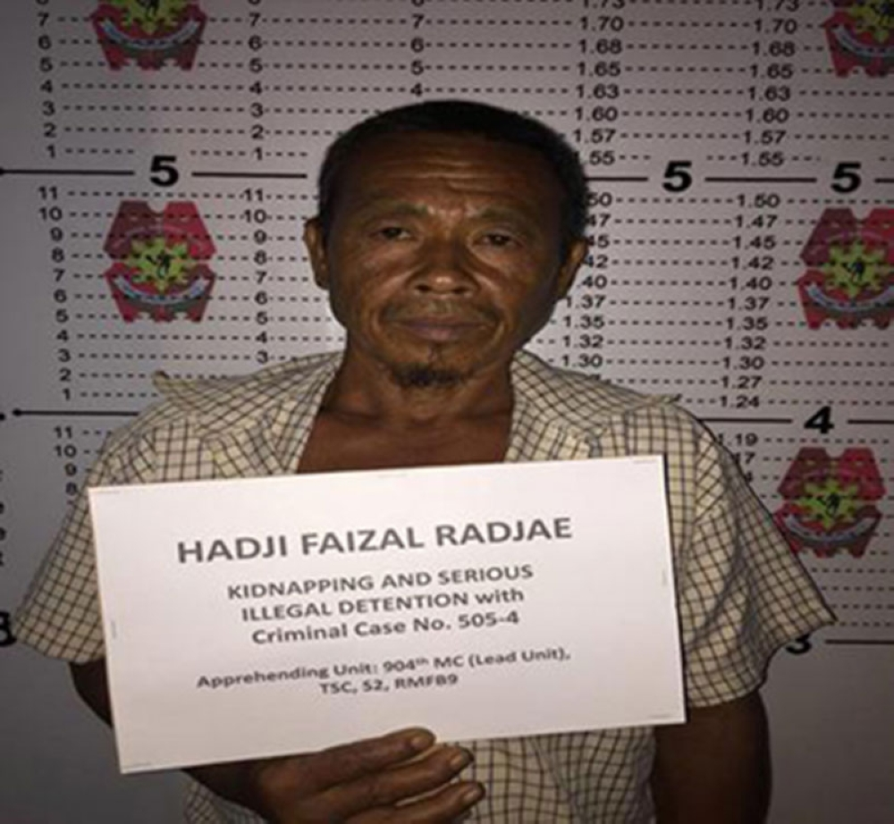 ZAMBOANGA. Zamboanga City policemen on Friday, July 20, arrested Hadji Faizal Radjae, an Abu Sayyaf Group sub-leader allegedly involved in the kidnapping of 21 people on April 2000 in Sipadan, Malaysia. (PRO-Zamboanga Peninsula PIO)