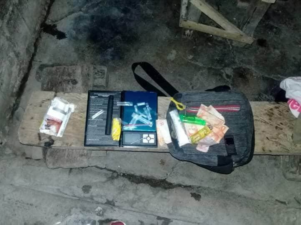 The recovered items from the operation in Barangay 5, San Carlos City Sunday (Contributed Photo)