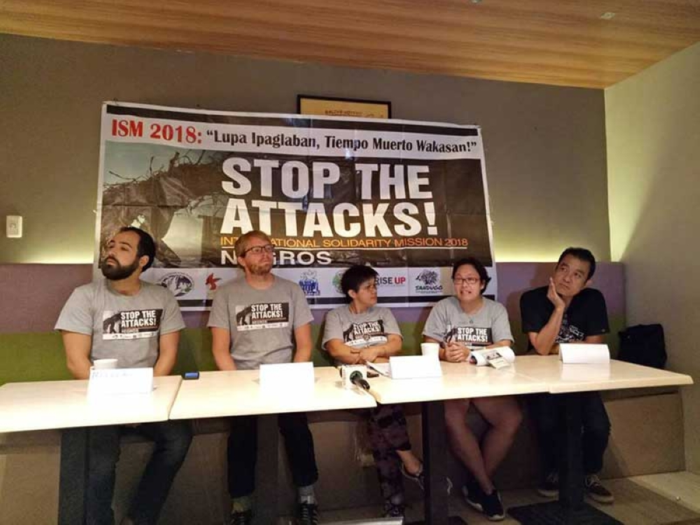 International Solidarity Mission team in a press conference Sunday, July 22 (Contributed Photo)