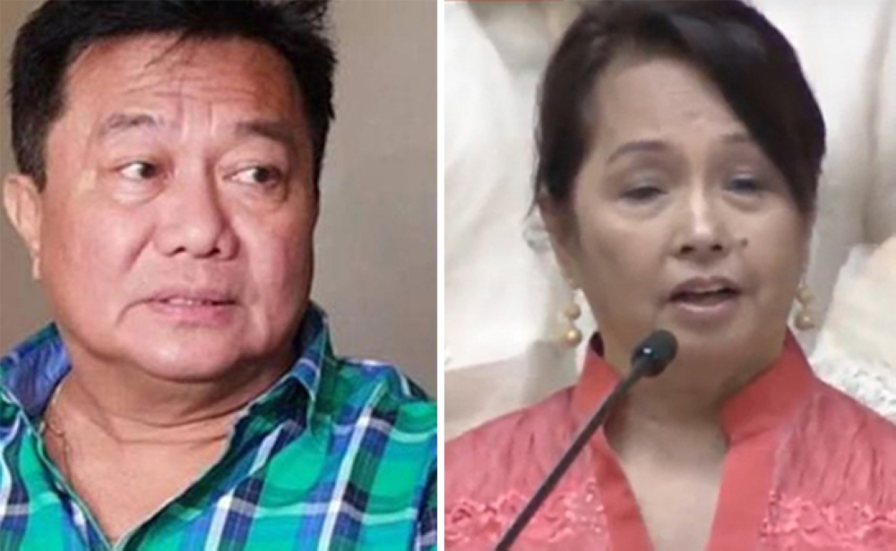 This combination photo shows Speaker Pantaleon Alvarez and Pampanga Representative Gloria Arroyo, who took over the House speakership a few minutes before President Rodrigo Duterte will deliver his State of the Nation Address at 4 p.m., Monday, July 23. (SunStar File Photo and photograbbed from RTVM)