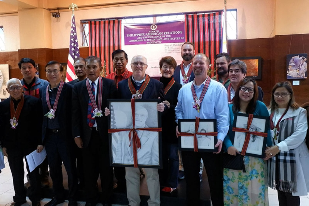 Deputy Chief of Missions to the US Embassy in Manila, Michael Klecheski is joined by Baguio City officials, Baguio Museum trustees and US Embassy Representatives following his talk on the PH-US country relations. (Emma Guillermo, MMSU intern)
