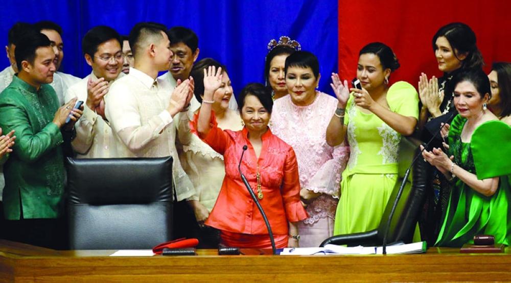 House Speaker Gloria Macapagal-Arroyo (Waving)
