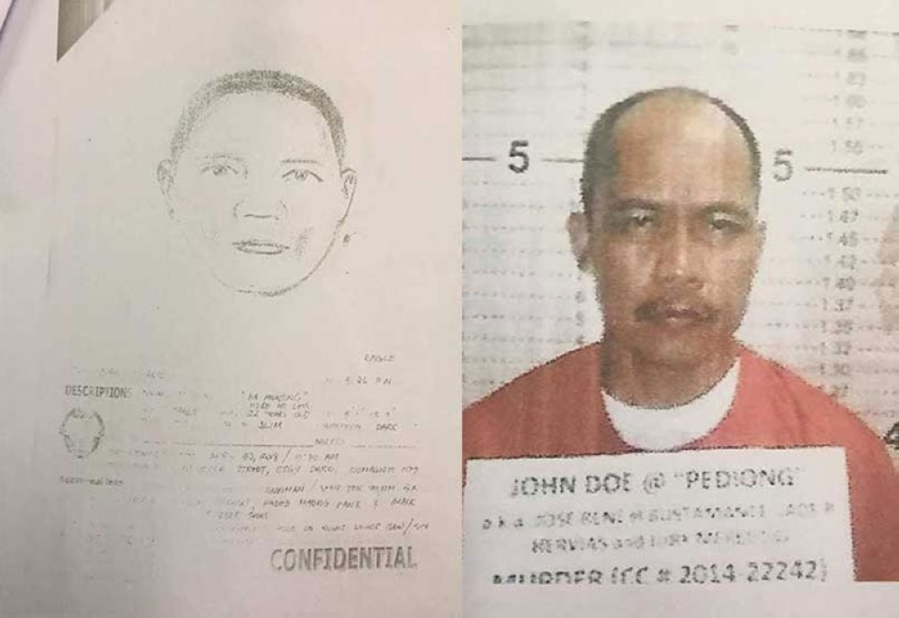 CEBU. The artist sketch and mugshot of the suspects in the death of Dumaguete City-based broadcaster Edmund Sestoso. (Courtesy of PRO 7-PIO)