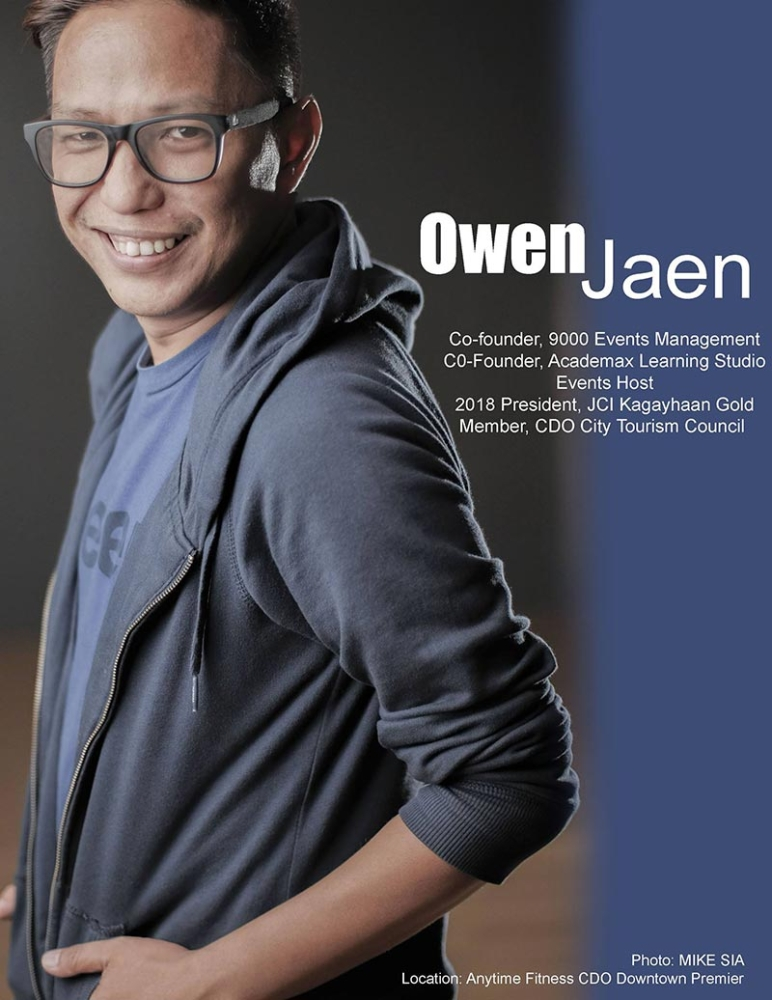 CAGAYAN DE ORO. Owen Jaen, owner of 9000 Events and the current president of JCI Kagayhaan Gold. (Photos from Owen Jaen's Facebook account)