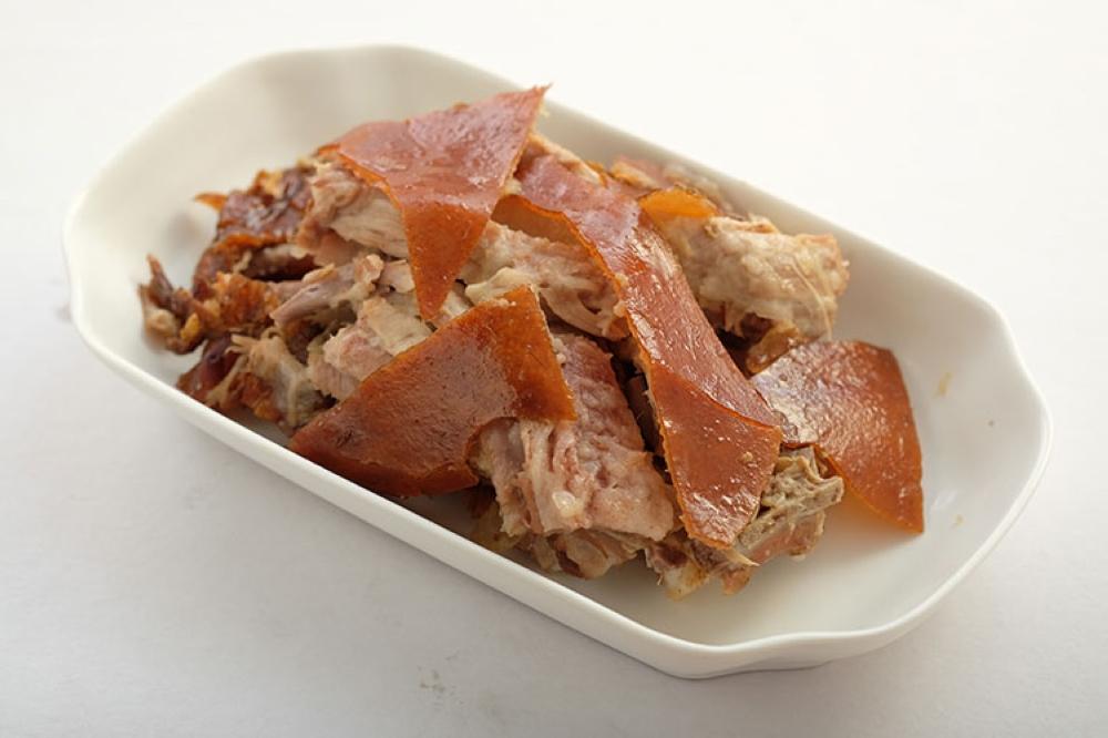 MANILA. Chopped Original Lechon at P950 per kilo. (Juan Miguel D. Bonjoc)