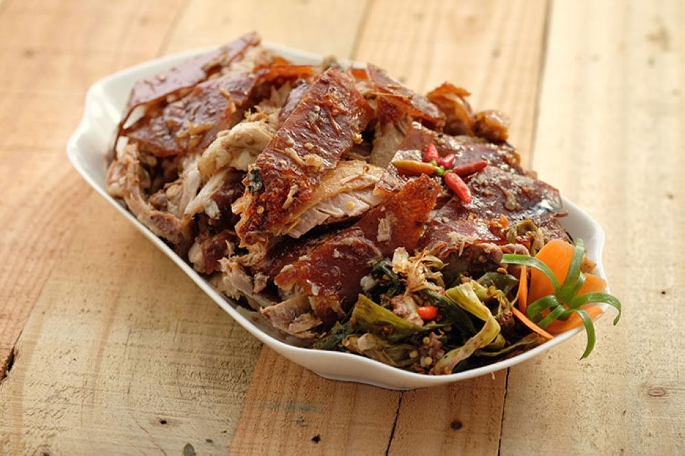 MANILA. Chopped Spicy Lechon at P950 per kilo. (Juan Miguel D. Bonjoc)