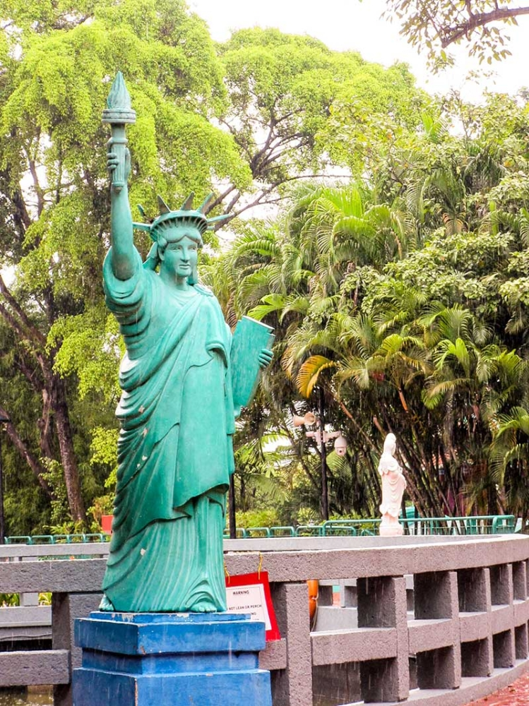 BACOLOD. Did you know that there's a Statue of Liberty inside the park? (Claire Marie Algarme)
