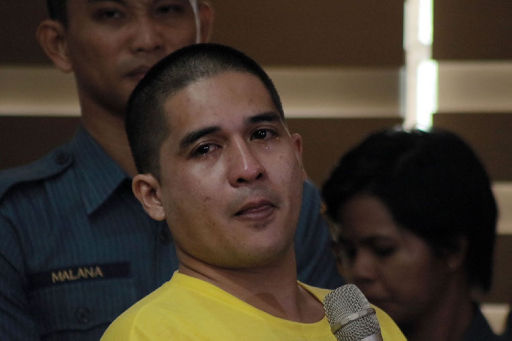 MANILA. Former child actor CJ Ramos cries while he talks about his arrest in an anti-drug operation on July 31, 2018 in Caloocan City. He was presented to the media on August 3, 2018. (Al Padilla/SunStar Philippines)