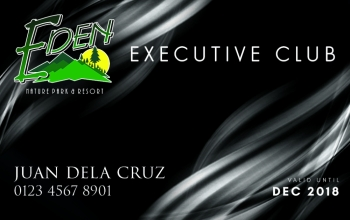 DAVAO. The Eden Executive Club Membership Card (Contributed Photo)