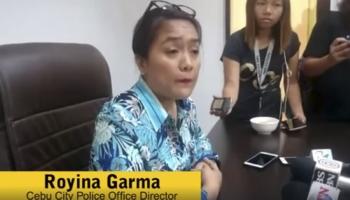 CEBU City Police Director Royina Garma questions the search on Barangay Councilor Jessielou Cadungog's house.