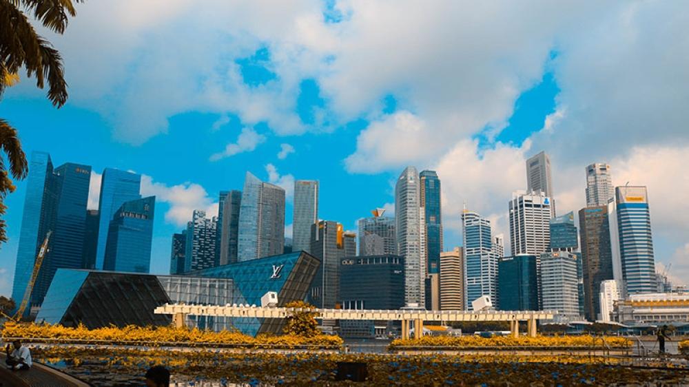 SINGAPORE. Singapore's impressive skyline. (Ace June Rell S. Perez)