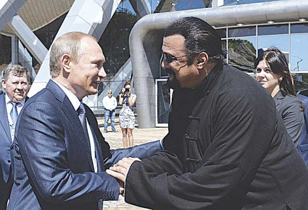 Vladimir Putin & Steven Seagal (Dailymail)