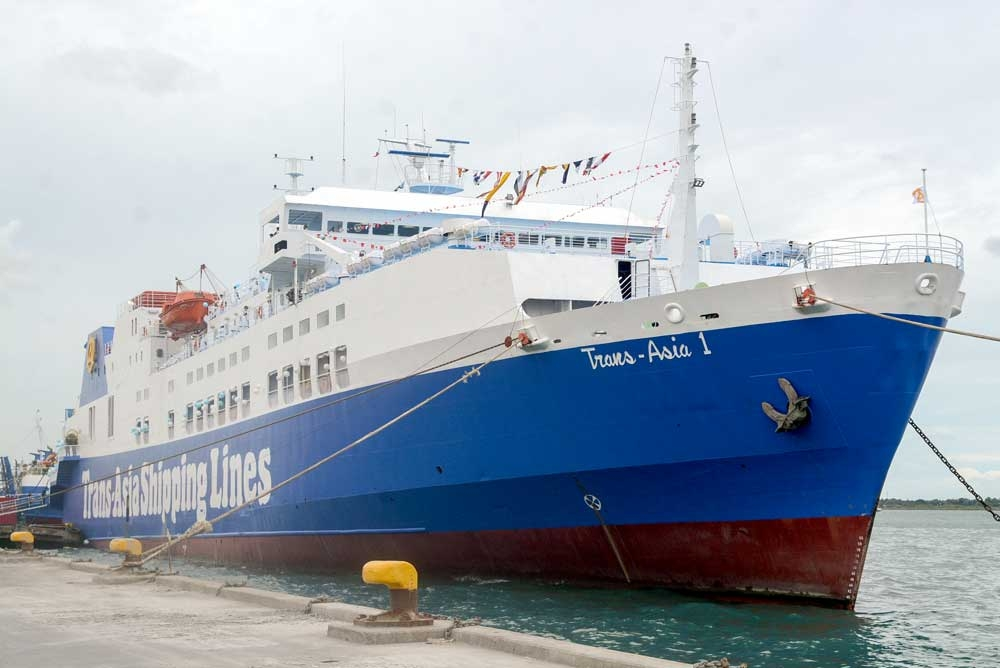 M/V TRANS-ASIA 1. The P700-million vessel will be the first of several for the shipping company by 2020. (Sunstar Foto/Arni Aclao)