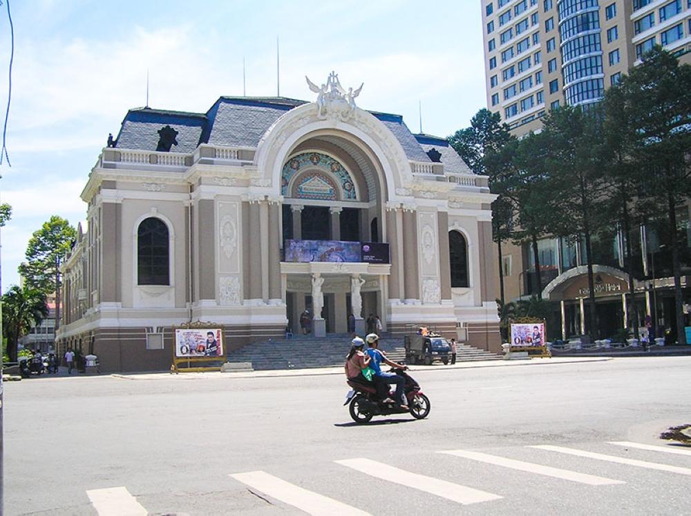 The façade of the Saigon Opera House is such a beauty (Claire Marie Algarme)
