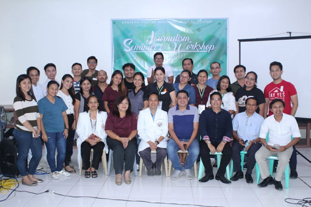 "LEYTE. Doctors and nurses comprising the ""Bridges,"" the official publication of Eastern Visayas Regional Medical Center (EVRMC), attend a three-day journalism workshop in Tacloban City on August 10. (Photo by Dareen Kate Cueva)"