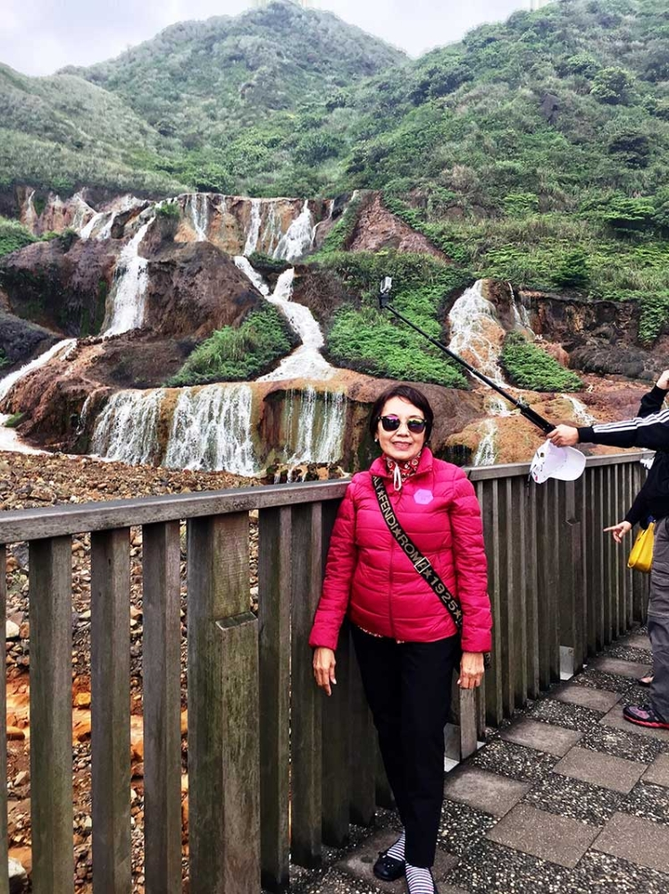 TAIWAN. The Golden Waterfall has a yellow hue, resulting from the mining elements and formed naturally through substantial rainfall which seeped through the rocks and crocks creating a scenic view. (Debb Bautista)