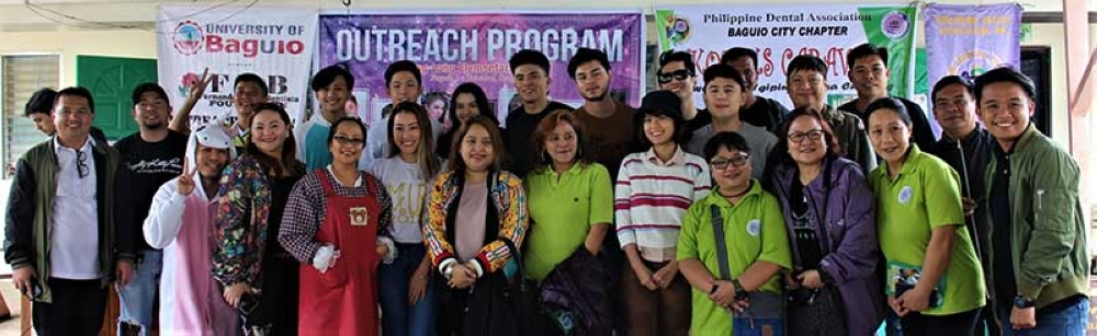 """Among the events in celebration of UB's 70th anniversary was an outreach program at Long Long Elem. School, Puguis LTB in partnership with Waltrix Productions, FRB Foundation, SunStar Baguio, Angelina Pharmacy, Phil. Dental Asso. Baguio Chapter headed by Dr. Arlina """"Arren"""" Tumbaga, UB Student affairs office (Joanne Uraga), Ms. UB 2017 Yani Martin, Cocotoo, Ihsay's Authentic Pancit Batil Patong, Banga Lutong Bahay and Tokubetsu. Beneficiaries were the Kinder 1 and Grade 1 students. Special thanks to School Principal Mr. Edgar Vicente. (Karu Villanueva)"""