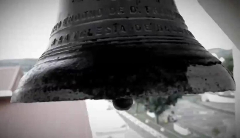 SAMAR. One of the three Balangiga Bells taken as war booty by American soldiers. (Photo grabbed from RTVM video)