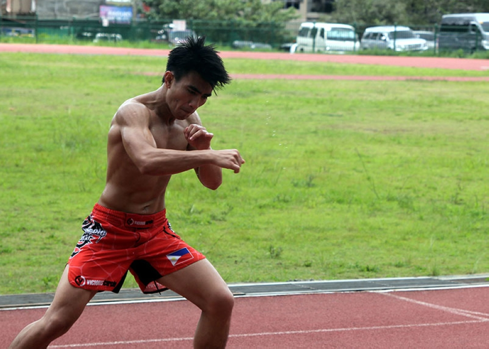 BAGUIO. Just weeks after his recent victory in One Championship, strawweight contender Joshua Pacio resumes training even without a scheduled fight. (Roderick Osis)