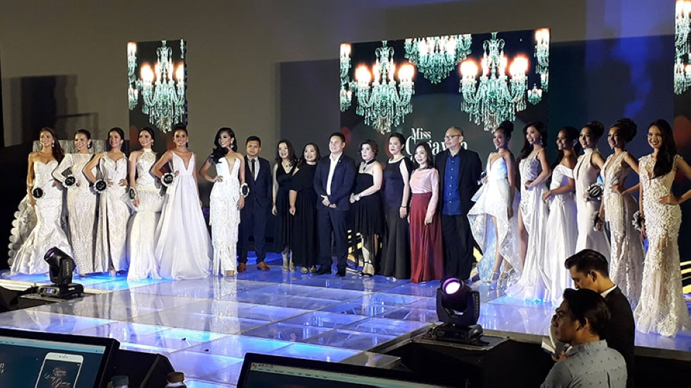 CAGAYAN DE ORO. Twelve candidates of the Miss Cagayan de Oro 2018 walked the runway at SM Downtown Premier Imax Cinema decked in their stunning white gowns created by the Oro Fashion Designers Guild last Saturday, August 11. (Jo Ann Sablad)