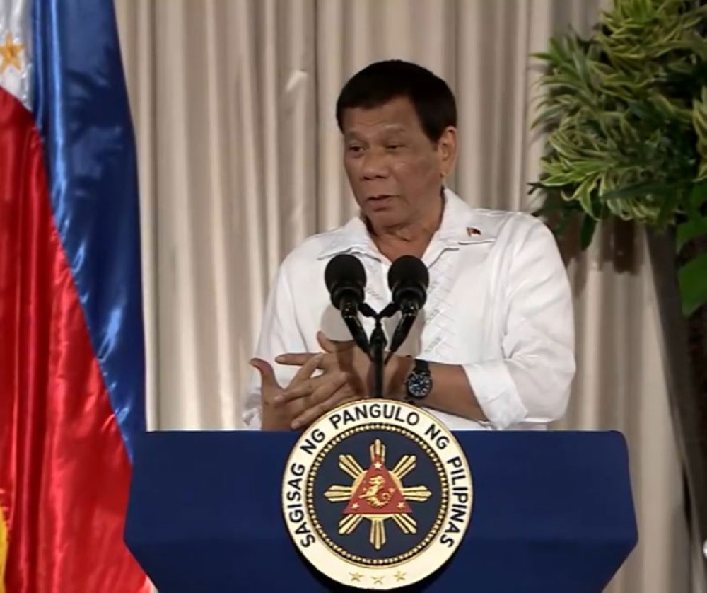 MANILA, President Rodrigo Duterte says he is tired and is ready to go home to Davao City, his hometown. In a speech on August 14, 2018, Duterte admitted he might not be able to fulfill his campaign promises to stamp out corruption and eradicate illegal drugs. (Photo from RTVM video)