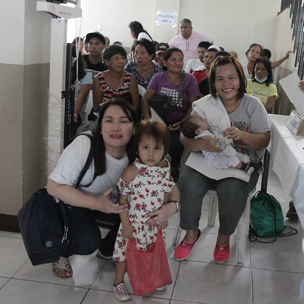Mrs. Nikki Benitez at the pre-screening for the free surgical mission (Contributed Photo)