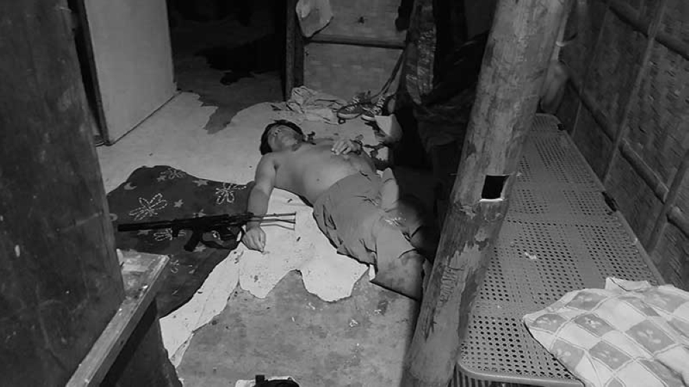 One of the suspected NPA members who was killed. (Photo courtesy of the Western Visayas police)