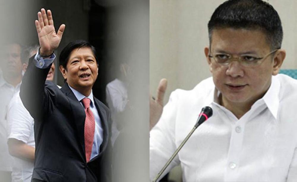MANILA. President Rodrigo Duterte says he would prefer either Ferdinand 'Bongbong' Marcos Jr. or Senator Francis 'Chiz' Escudero as his successor, not Vice President Maria Leonor 'Leni' Robredo. (File Photos)
