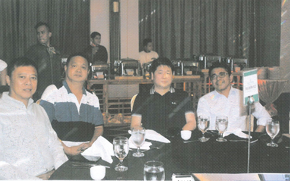 Sun Park Royal Hotel and Residences Launch.  Allan Kho, Stephen Flordelis, SunKai Land Inc. president Ferdinand Tio and Roman Cruz.