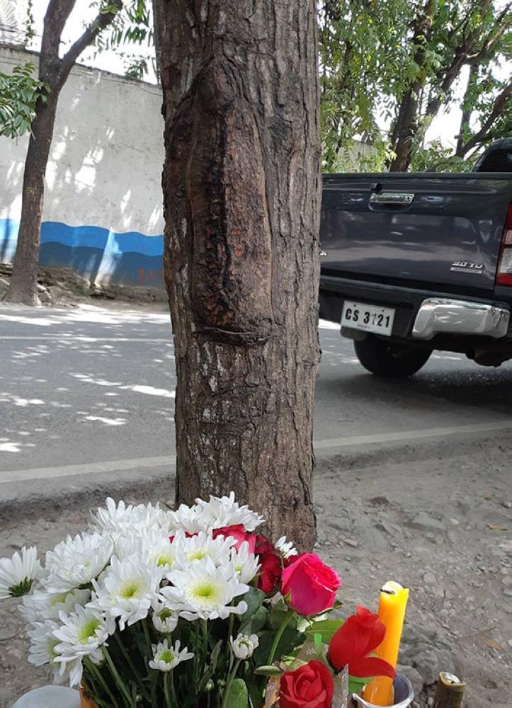 Milakra. Daw sama sa imahe sa Birhen Maria ang milakra sa kahoy nga mahogany nga gikatingala sa molupyo sa Barangay Punta Engaño, dakbayan sa Lapu-Lapu. (Flor V. Querubin)