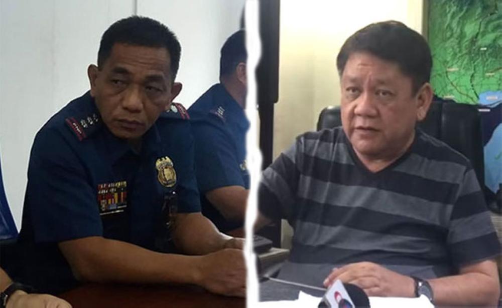Photo combination of PRO-Central Visayas Deputy Regional Director for Operations Angelito Dumangeng (left) and Cebu City Mayor Tomas Osmeña. (SunStar Photos)