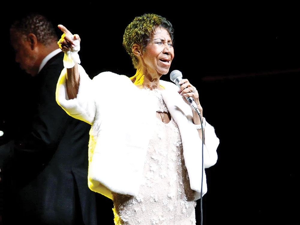 Aretha Franklin'S last public performance was last November at Elton John's AIDS Foundation 25th anniversary benefit held at New York's Cathedral of St. John the Divine. (Foto / People Magazine)