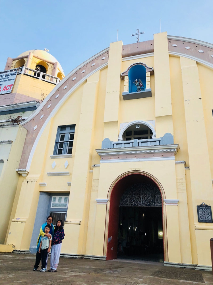BOHOL. Always visiting churches even when on vacation. The St Michael Archangel Cathedral at Jagna, Bohol. (Hannah Victoria Wabe)