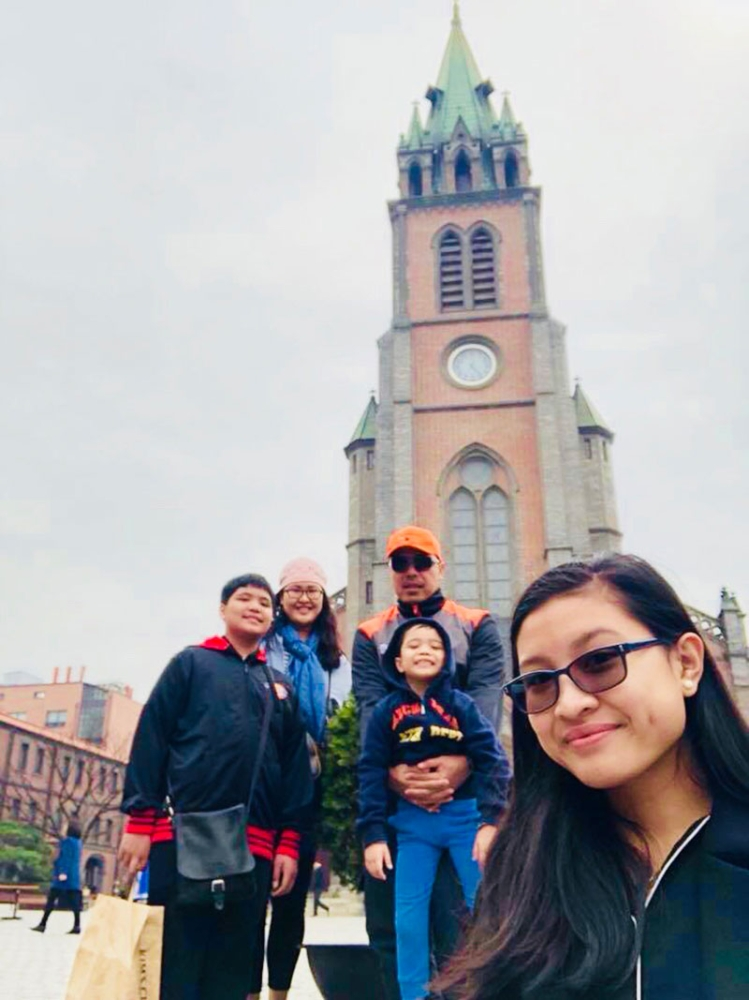 SOUTH KOREA. Always Seek Ye first... at our recent vacation in the Myeongdong Cathedral in South Korea. (Hannah Victoria Wabe)