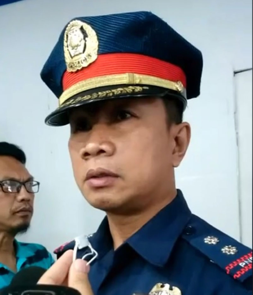 PRO-Central Visayas legal officer Superintendent Edhel Pereira. (Photo grab from Kevin A. Lagunda Facebook Live)