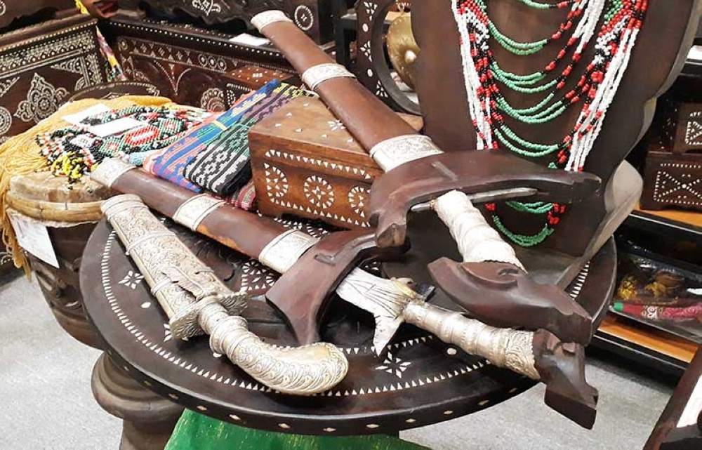 CAGAYAN DE ORO. A sheathed Kris or Maranao sword. The kris' blade is, unlike other swords, in a wave pattern which symbolizes the Maranao's livelihood in waters. (Jo Ann Sablad)
