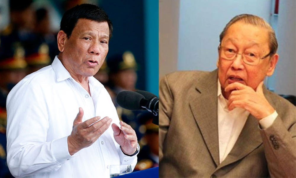 President Rodrigo Duterte and Communist Party of the Philippines leader Jose Ma. Sison (SunStar File)