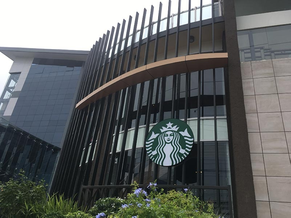 The modern look of Starbucks Matina branch from the outside. (Contributed photo)