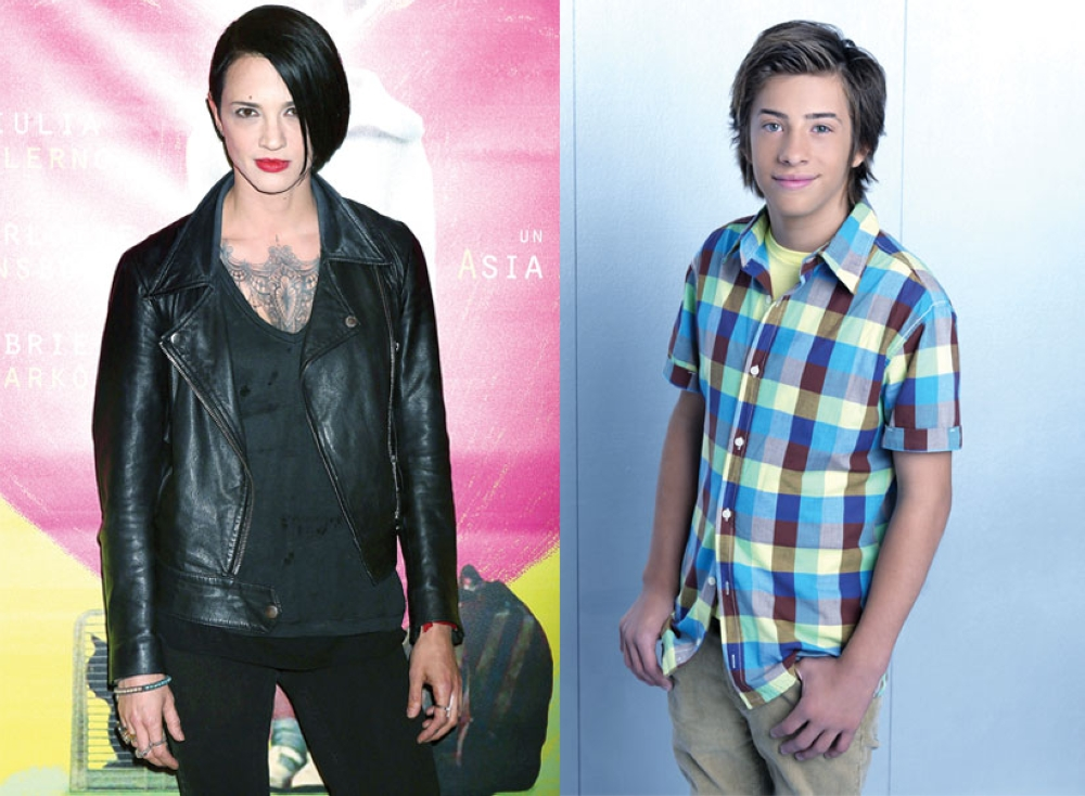Asia Argento (Foto / People) and Jimmy Bennett (Foto / Dvdbash)