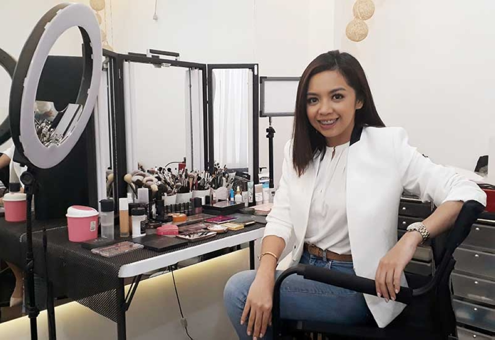 Eliza Liane Bastareche, the 22-year-old makeup artist and owner of Bellemoda Makeup and Beauty Lounge located in the second floor of Cagayan Town Center. (Jo Ann Sablad)