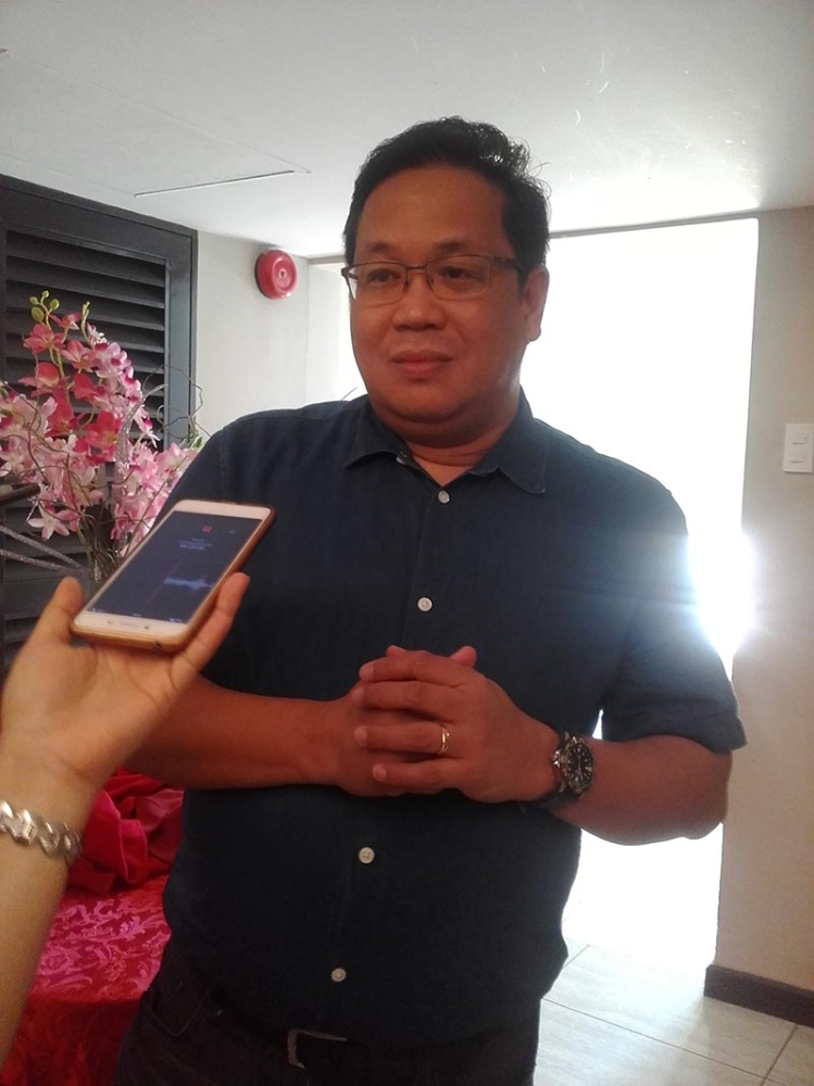 ILOILO. Department of Agriculture Assistant Secretary for Visayas Hansel Didulo in an interview with the media at the Madison Hotel on August 29. (Carolyn Jane Abello)